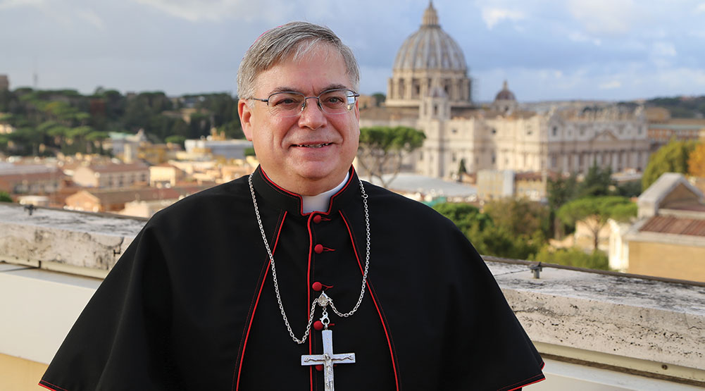 Bishop's Rome Pilgrimage Shows Our Connection to Successor of Peter