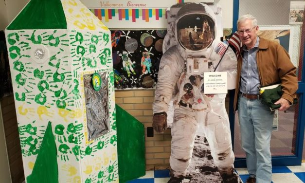 St. Anne School Students Welcome Former NASA Astronaut