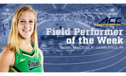 BECAHI Grad Receives Track Team Honor at Notre Dame