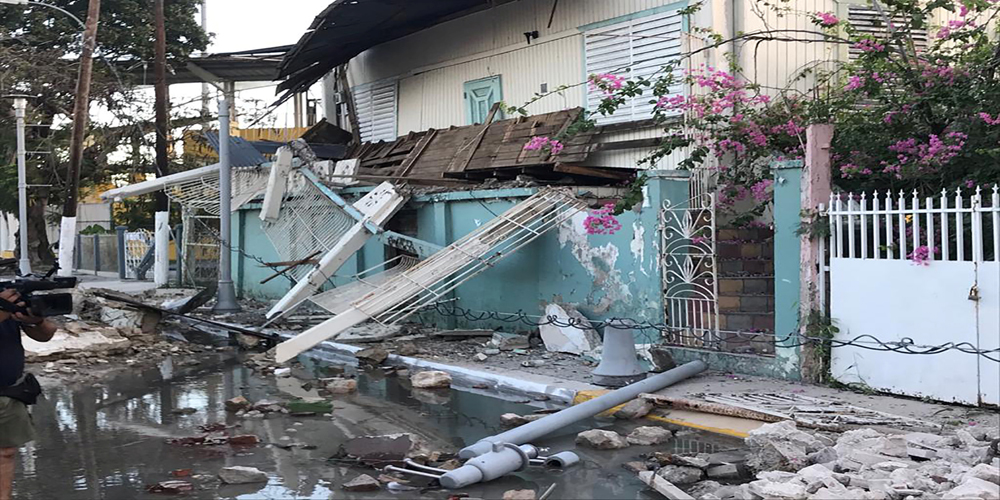 Collection for relief after earthquake in Puerto Rico