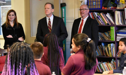 Sen. Toomey visits Diocesan school, promotes tax credit bill