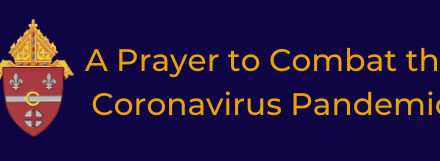 A Prayer to Combat the Coronavirus Pandemic