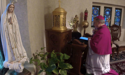 Bishop Leads Rosary from His Private Chapel. Watch the Video and Pray Along