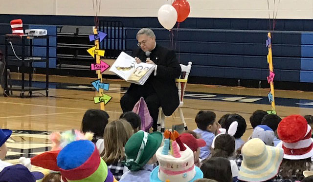 Cool Beans: The Bishop reads to kids