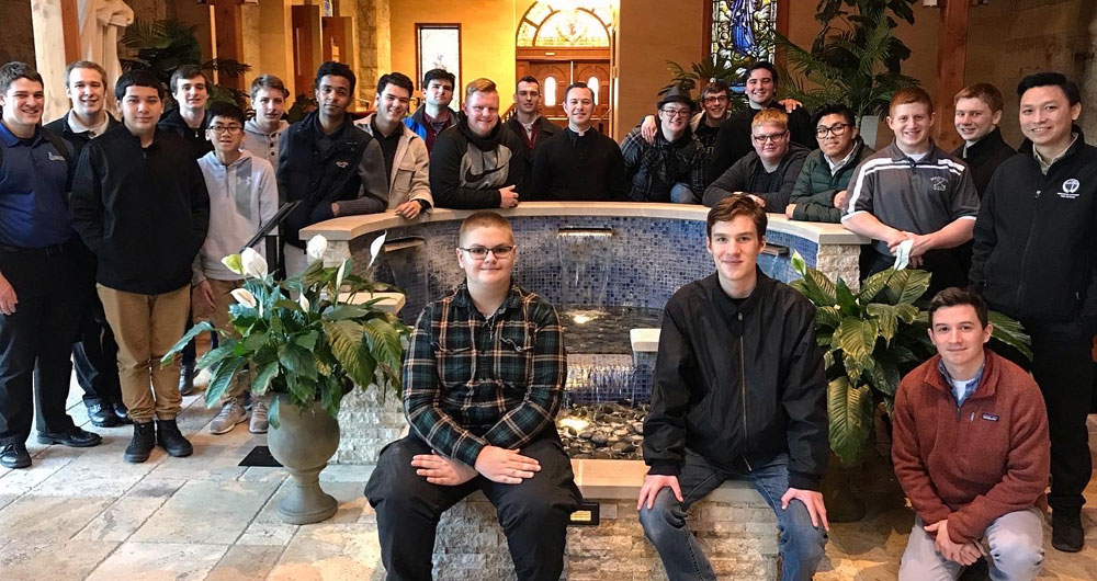 Seminary Retreat for Young Men Includes Plenty of Prayer (and Pizza)