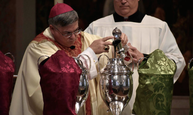Chrism Mass: Blessing of Holy Oils to be Rescheduled