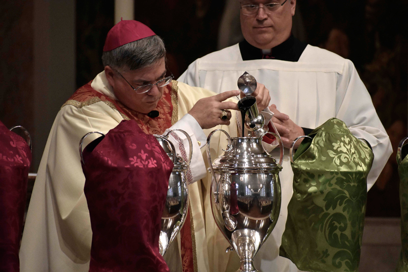 Chrism Mass, with its Blessing of Holy Oils, Set for May 27