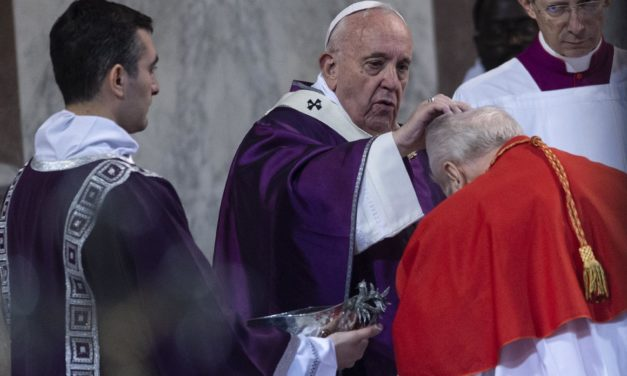A Change for Ash Wednesday This Year: Ashes Sprinkled on the Tops of Heads