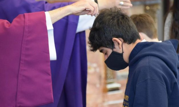 Catholics Across Diocese Attend Ash Wednesday Masses to Mark the Beginning of Lent