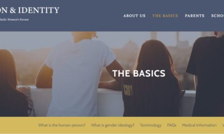 Website Offers Information for Parents, Teachers, and Parishes on Issues of Faith, Gender and Sexual Identity
