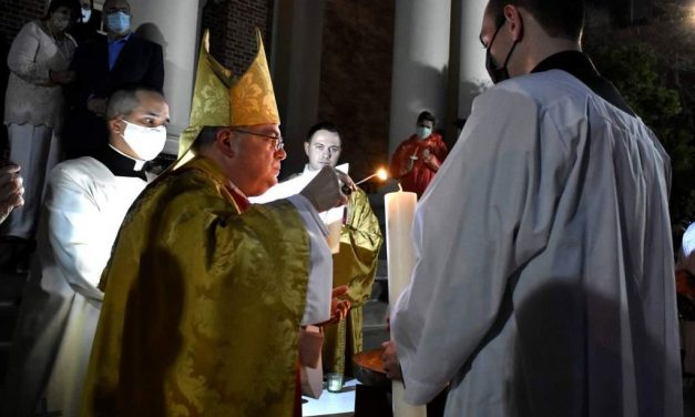 Easter Vigil on Saturday Night Begins in Darkness, and Brings Light