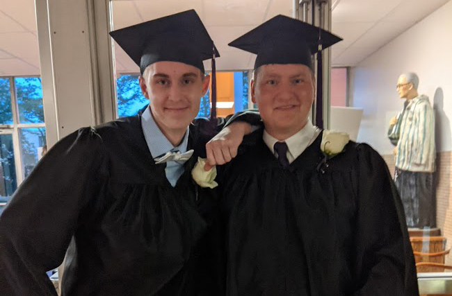 Kolbe Academy – A Faith-Based Recovery High School – Celebrates Two More Successful Graduates