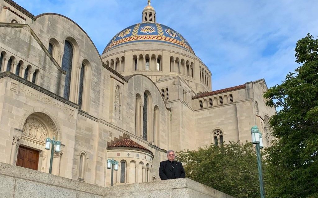 In Private Pilgrimage to the National Shrine, Bishop Remembers the Intentions of All Catholics in the Diocese